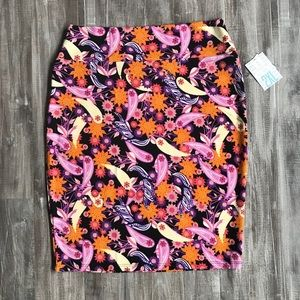 Lularoe Cassie Floral & Paisley Pencil Skirt XXL